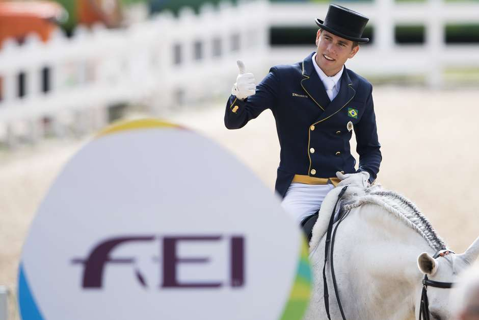Horse Inspection COUNTRY DAY 5 OLYMPIC GAMES RIO Dressage Individual . Grand Prix. BRA MARCARI OLIVA Joao Victor Pic Richard Juilliart